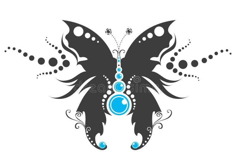 Tatuagem tribal da borboleta ilustração do vetor