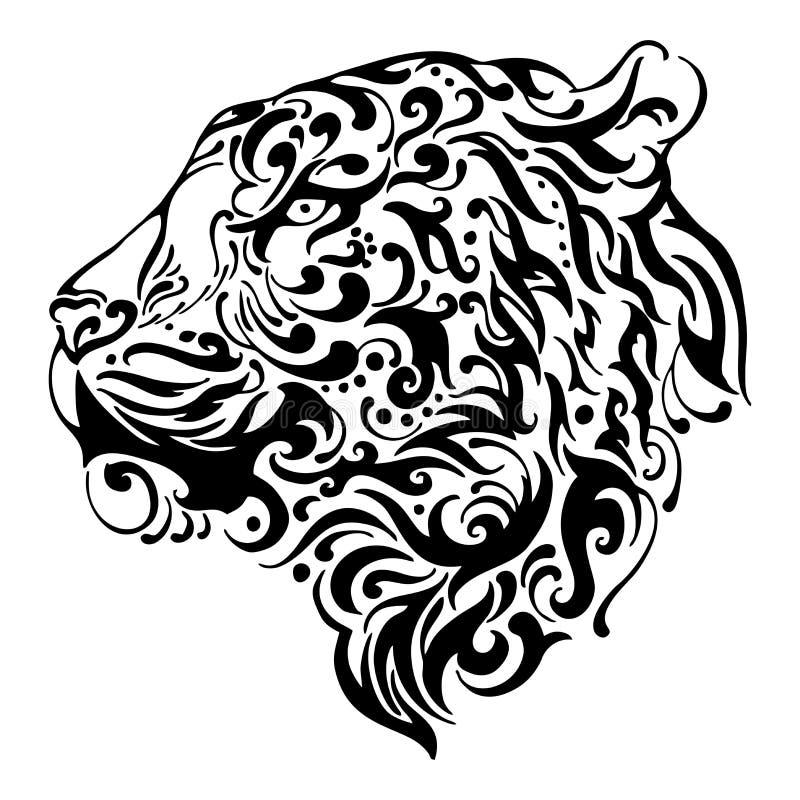 Mostre Em Silhueta Tribal Sobem Tatuagem De Salto Do Lobo