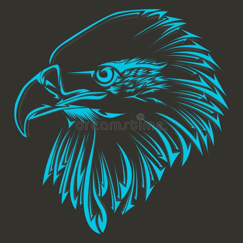 Tatuagem tribal do pássaro ilustração stock