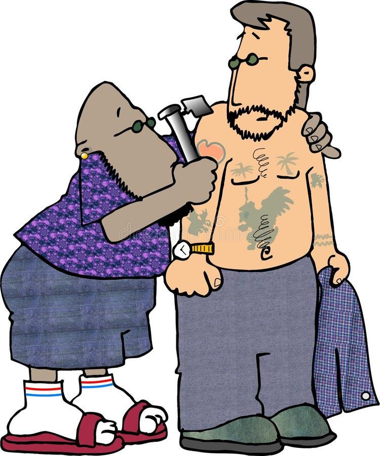 Tatuagem você ilustração royalty free