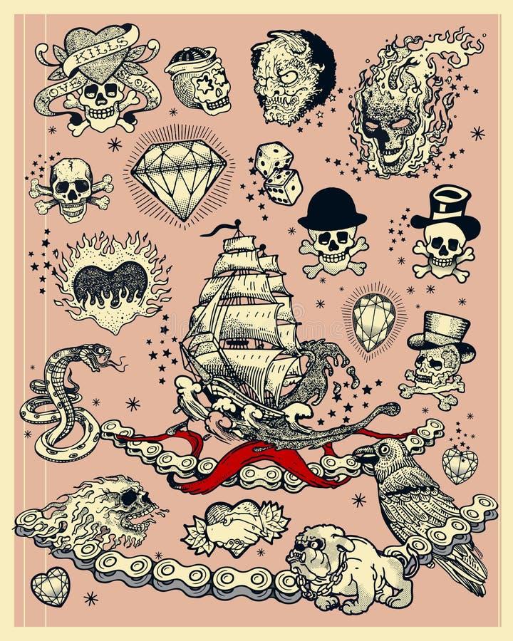 Tatuagens ilustração do vetor