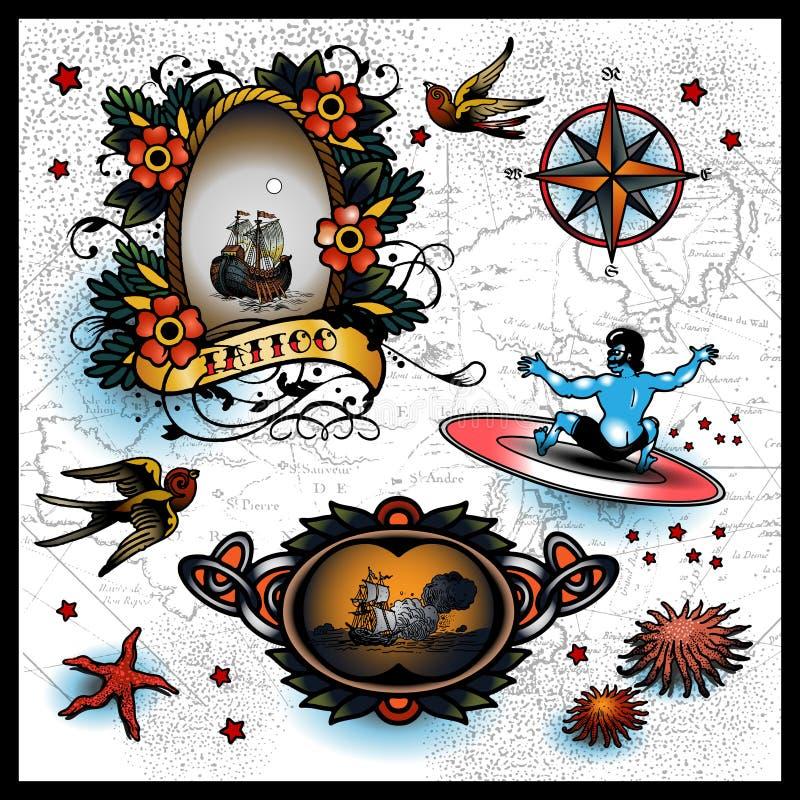 Tatuagens ilustração stock