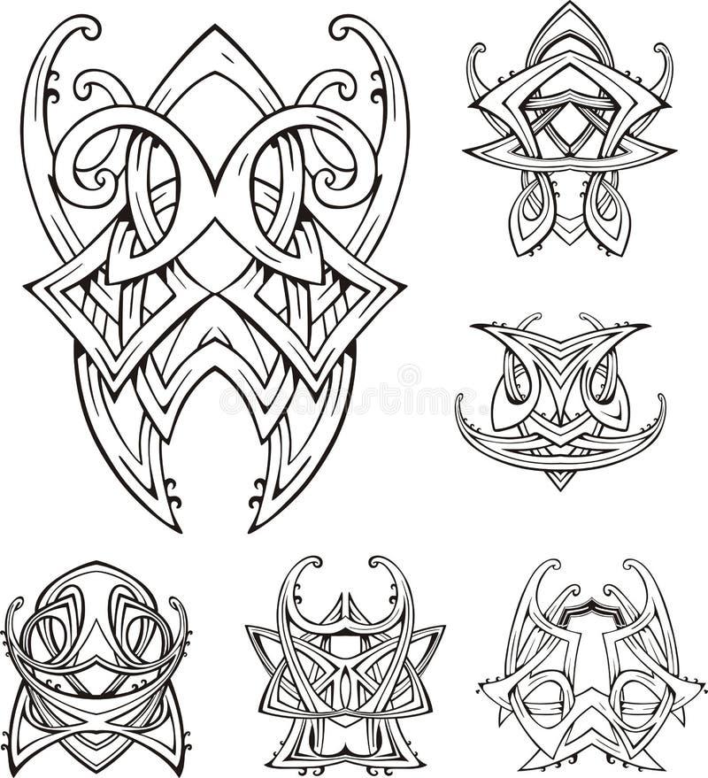 Tatuagens tribais sim?tricos do n? ilustração stock