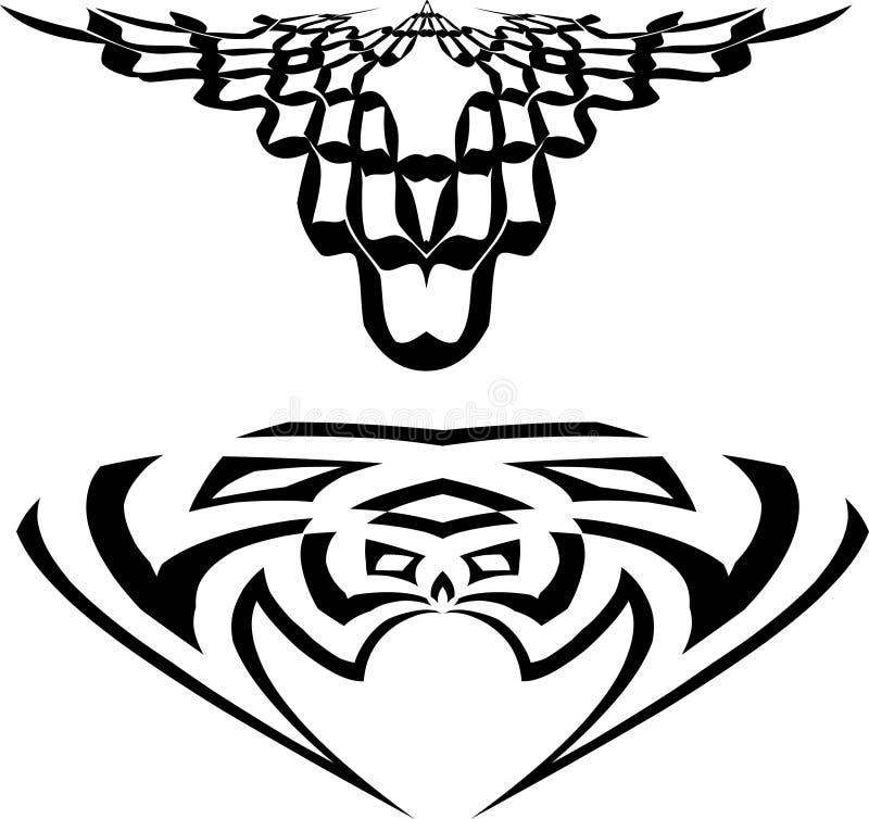 Download Tatuaggi illustrazione vettoriale. Illustrazione di isolato - 208845