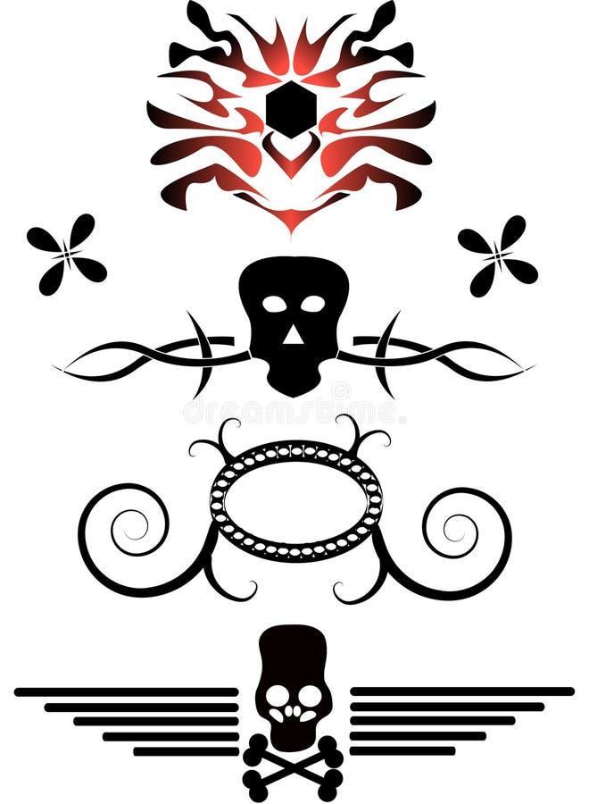 Tatuaggi illustrazione di stock