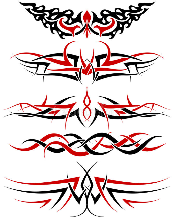 Tatuaggi impostati illustrazione vettoriale