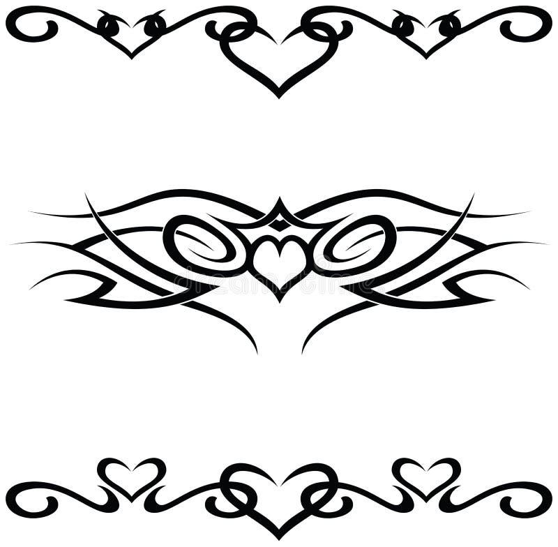 Tatuaggi tribali illustrazione di stock