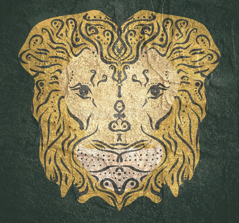 Tatuaggio animale ornamentale fotografia stock