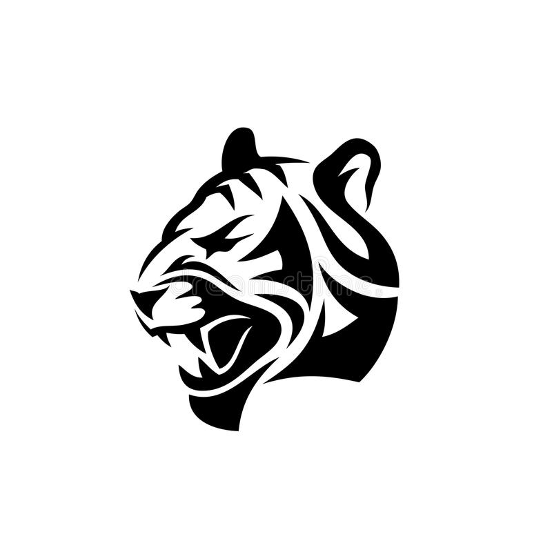 Tatuaggio astratto della tigre - illustrazione royalty illustrazione gratis