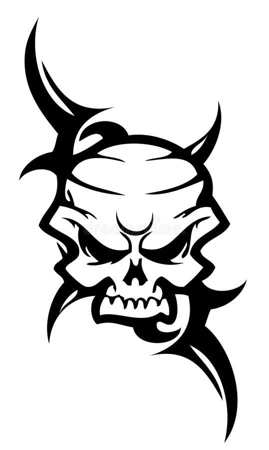 Tatuaggio del cranio illustrazione di stock