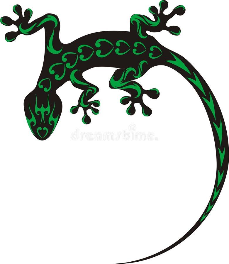 Tatuaggio del geco illustrazione di stock