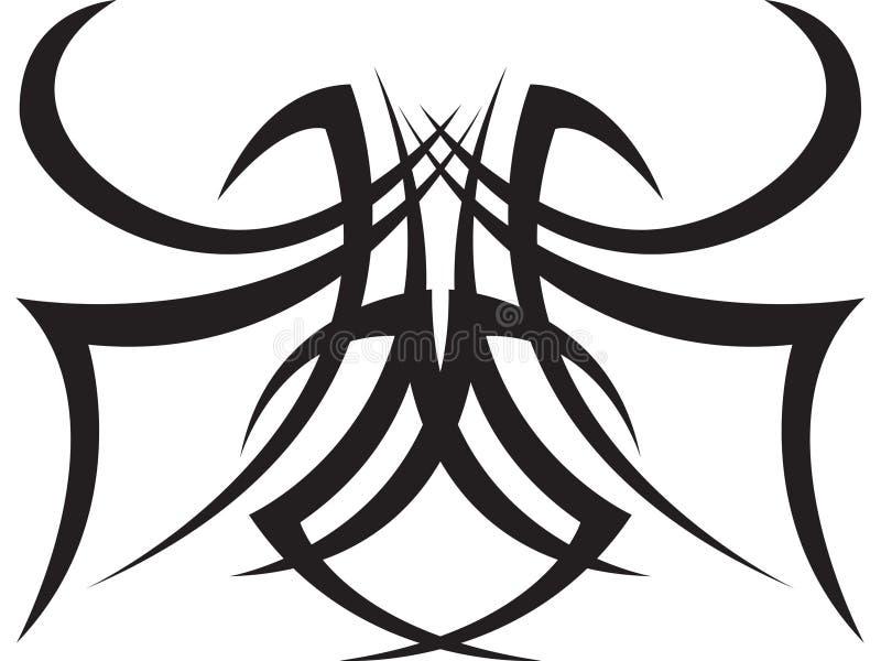 Tatuaggio del ragno illustrazione vettoriale
