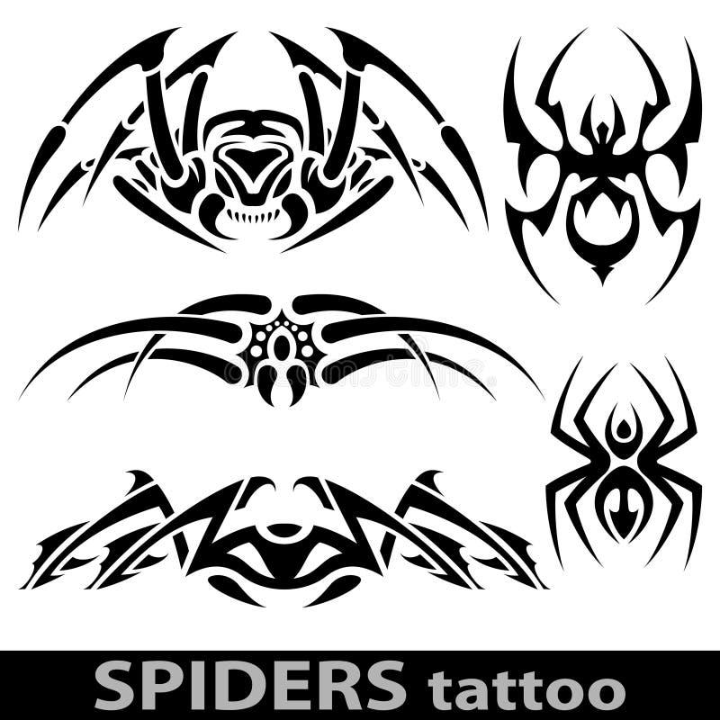 Tatuaggio del ragno royalty illustrazione gratis