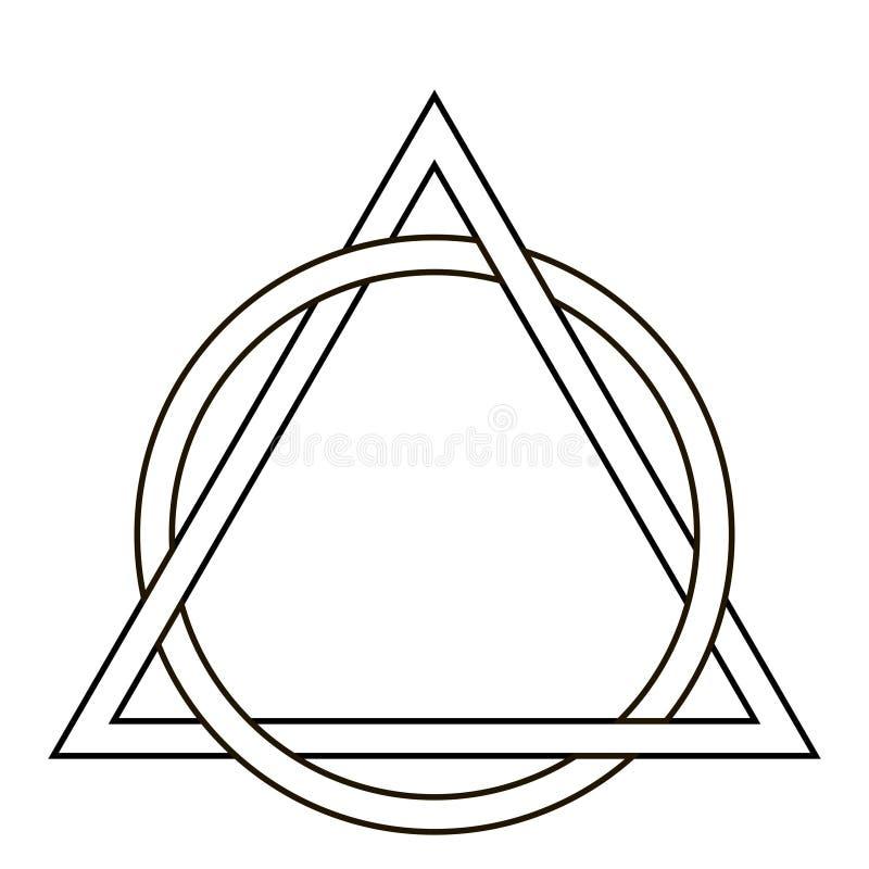 tatuaggio del triangolo del tessuto del cerchio illustrazione vettoriale illustrazione di. Black Bedroom Furniture Sets. Home Design Ideas