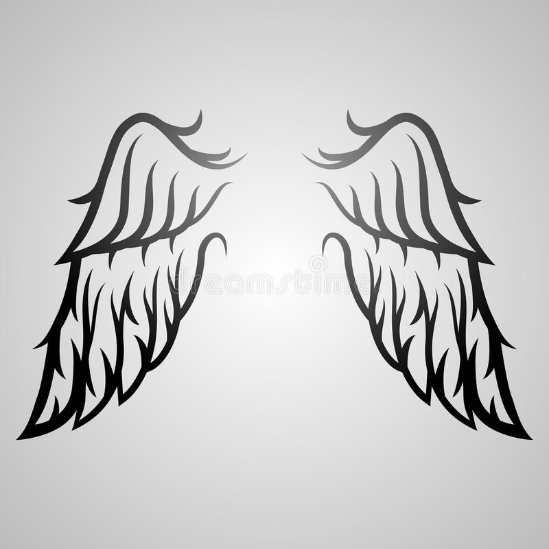 Tatuaggio dell'ala illustrazione di stock
