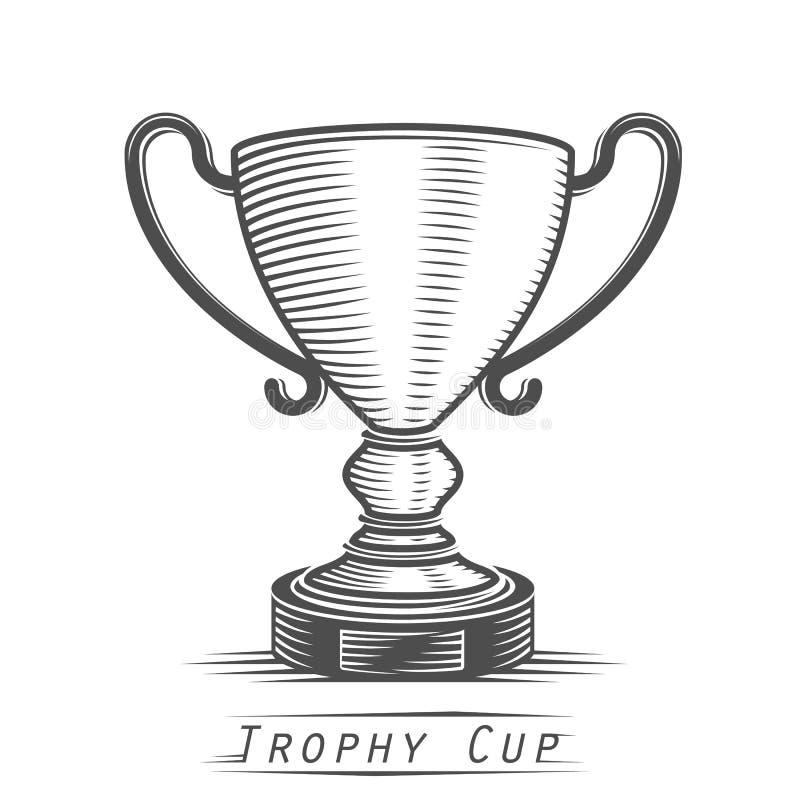 Tatuaggio dell'annata della tazza del vincitore illustrazione di stock