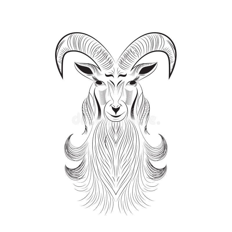 Tatuaggio della capra illustrazione di stock