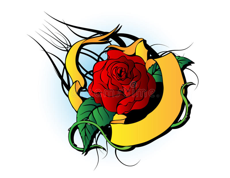 Tatuaggio della Rosa illustrazione vettoriale