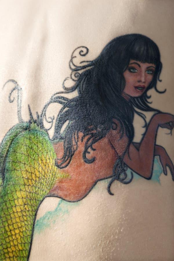 Tatuaggio della sirena. royalty illustrazione gratis