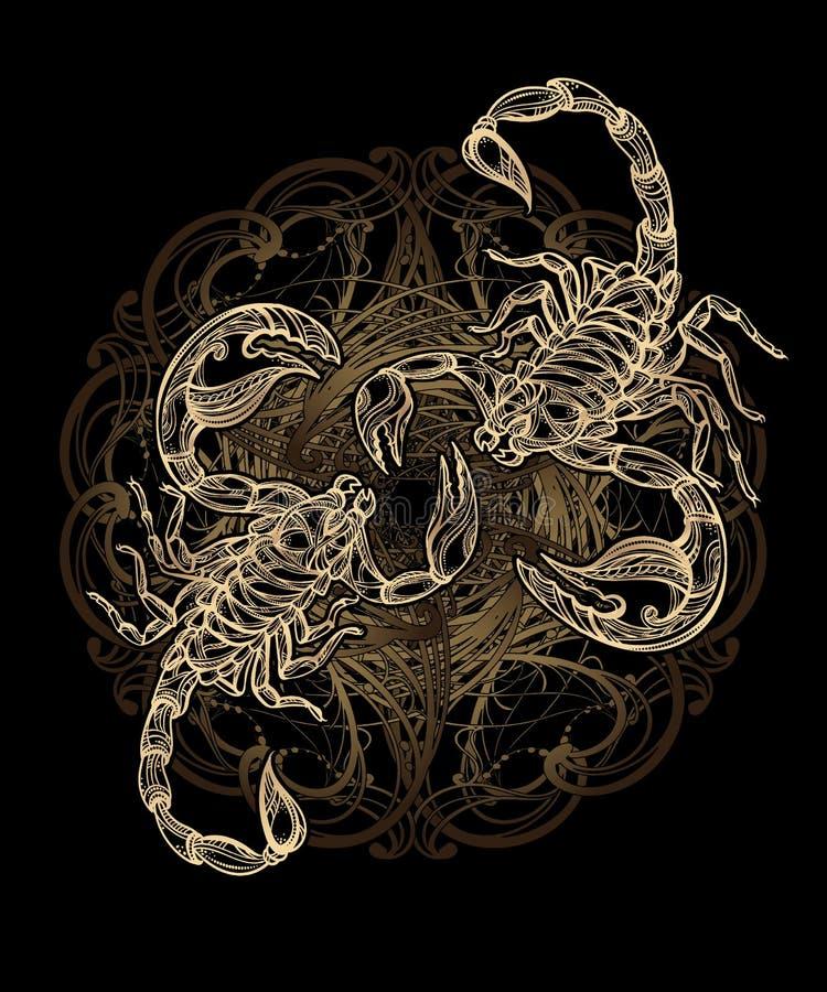 Tatuaggio dello scorpione di vettore illustrazione vettoriale