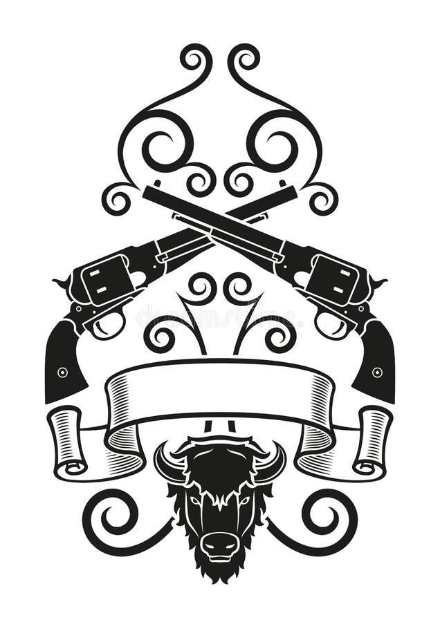 Tatuaggio Di Blackpowder Illustrazione Vettoriale