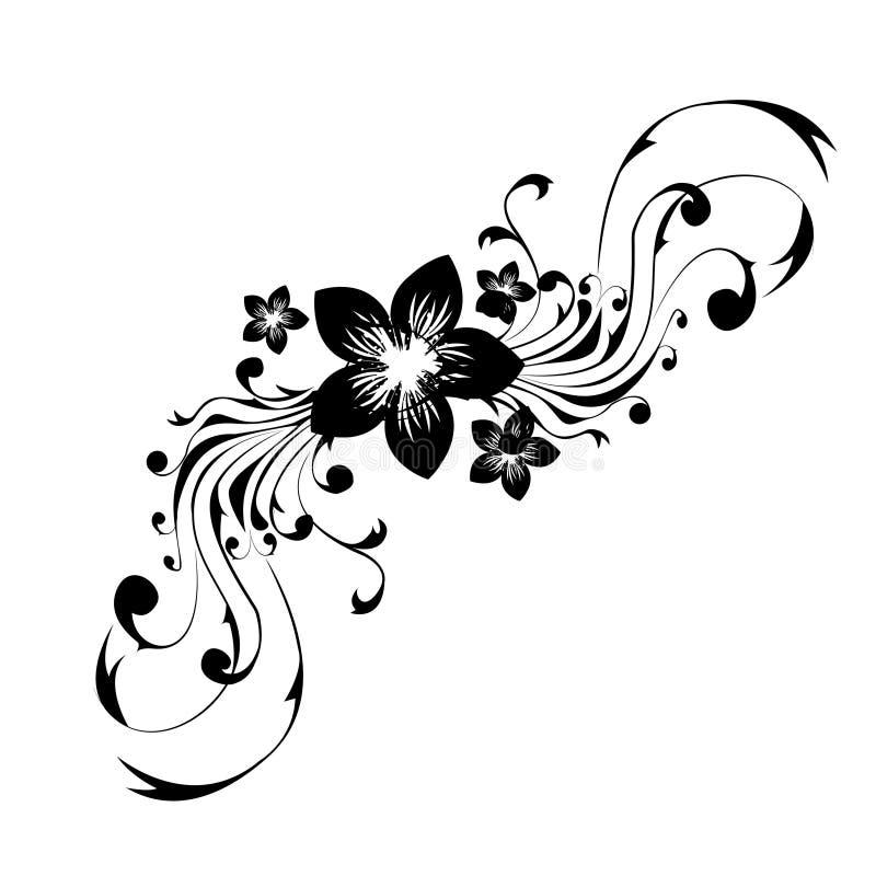 Tatuaggio di disegno floreale royalty illustrazione gratis