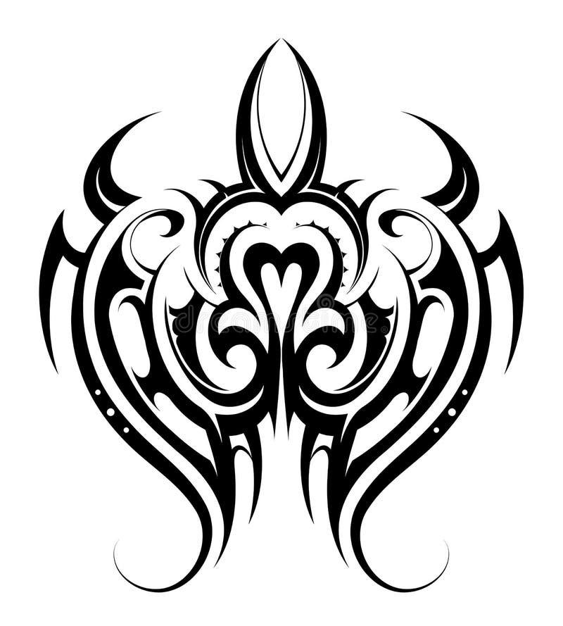 Tatuaggio di forma della tartaruga illustrazione vettoriale
