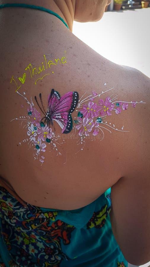 Tatuaggio provvisorio fotografie stock