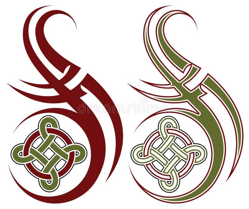 Tatuaggio tribale illustrazione di stock