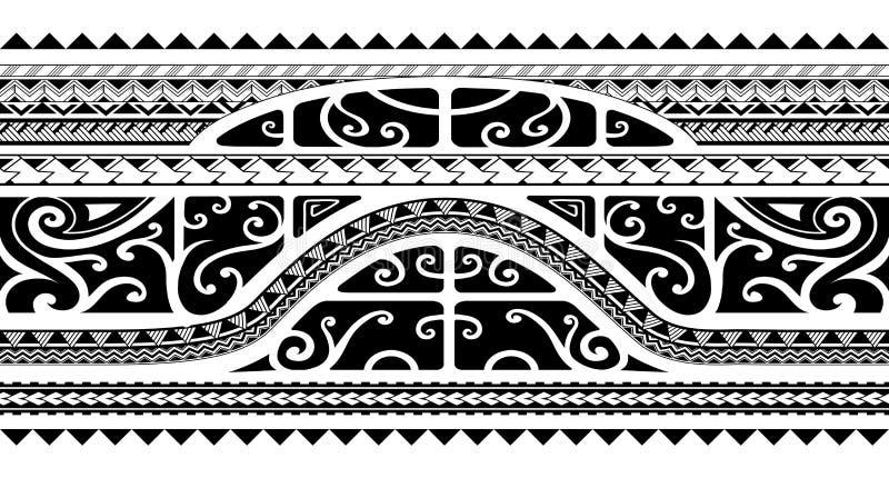 Tatuaggio tribale della banda di braccio di stile, senza cuciture royalty illustrazione gratis