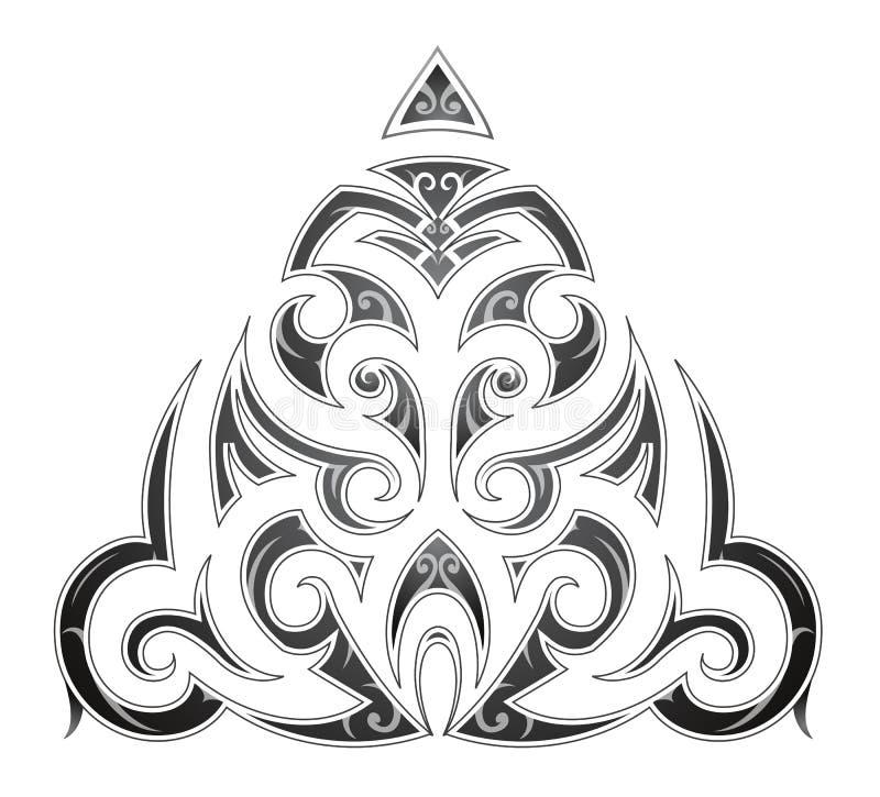 Tatuaggio tribale di arte di stile maori illustrazione di stock