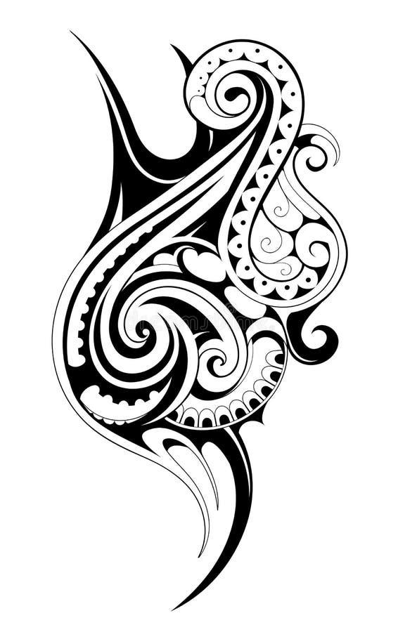 Tatuaggio tribale di stile illustrazione vettoriale