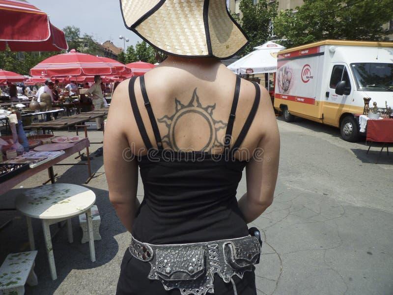 Tatuaje Como Moda Foto de archivo editorial