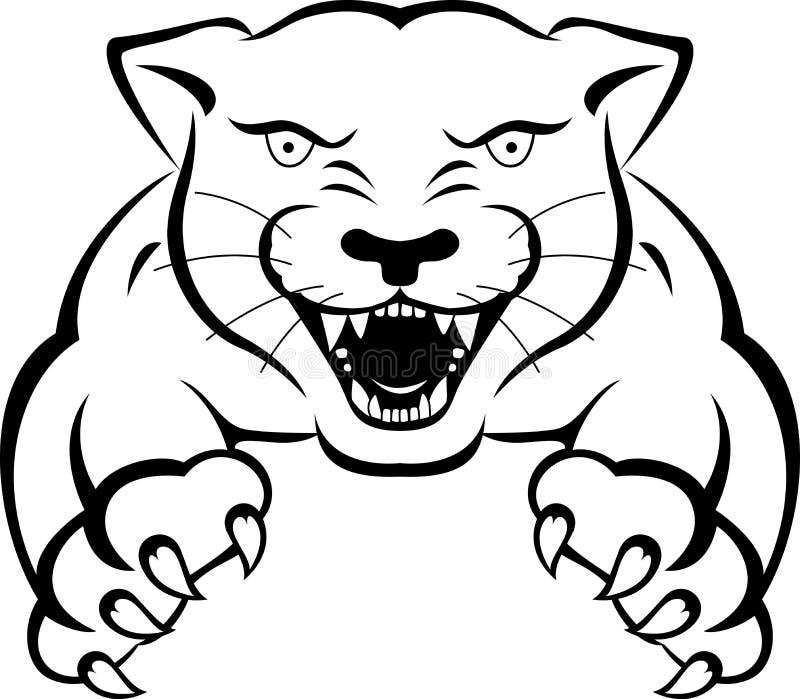 tatuaje de la pantera stock de ilustración ilustración de