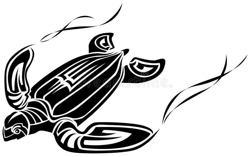 Tatuaje de la tortuga foto de archivo libre de regalías