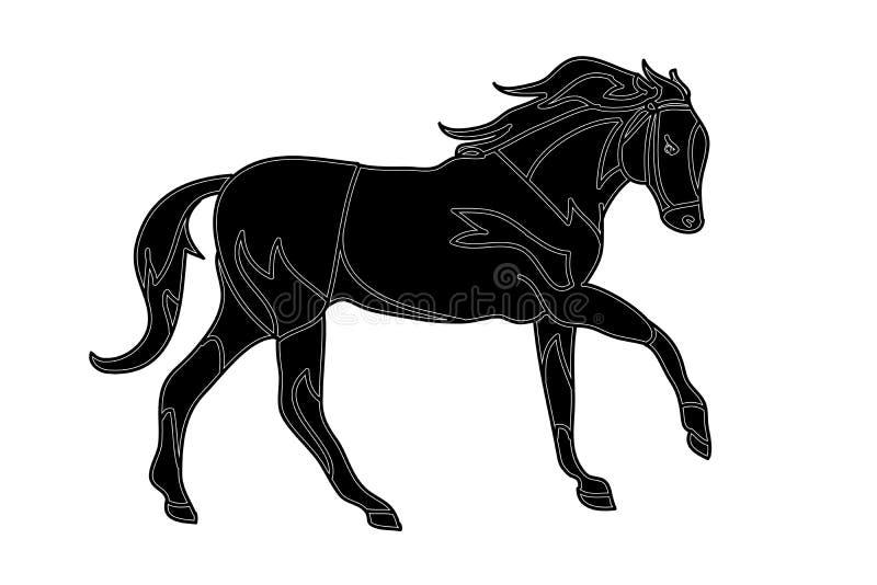 Tatuaje del caballo (galope) libre illustration
