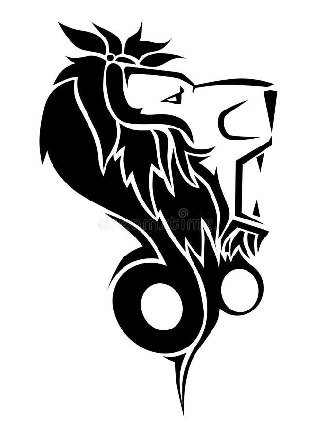 Tatuaje del león fotos de archivo