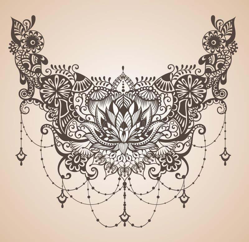 Tatuaje del loto de la alheña libre illustration