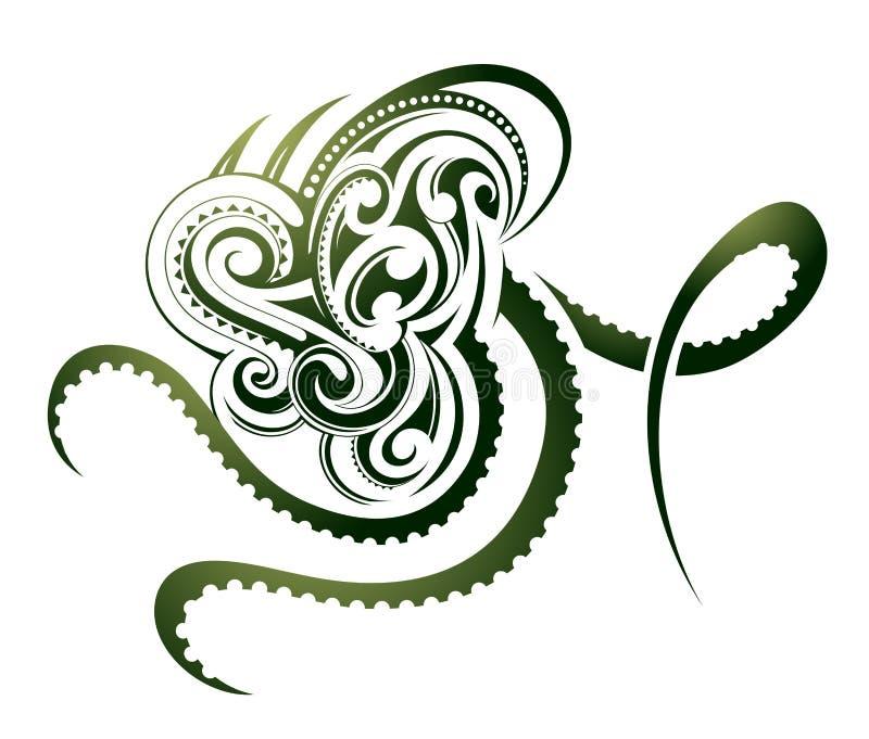 Tatuaje del pulpo libre illustration