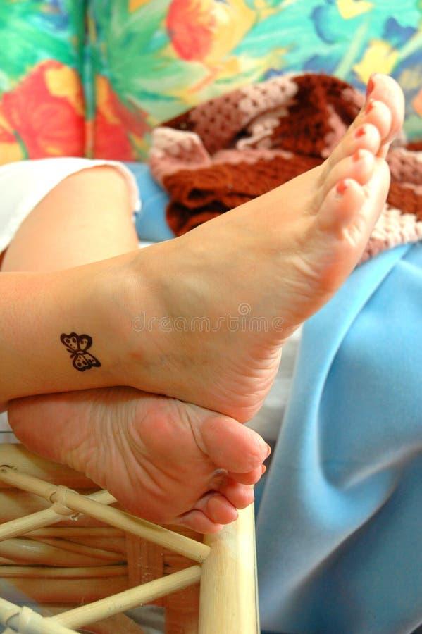 Tatuaje en la playa foto de archivo