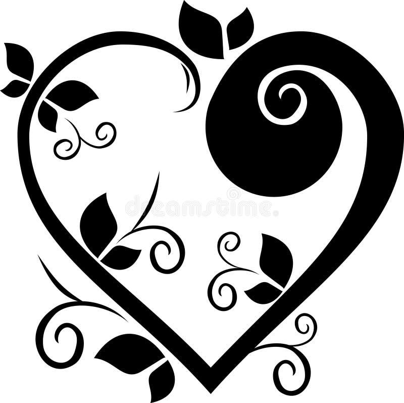 Tatuaje Floral Del Corazón Del Diseño Ilustración del Vector ...