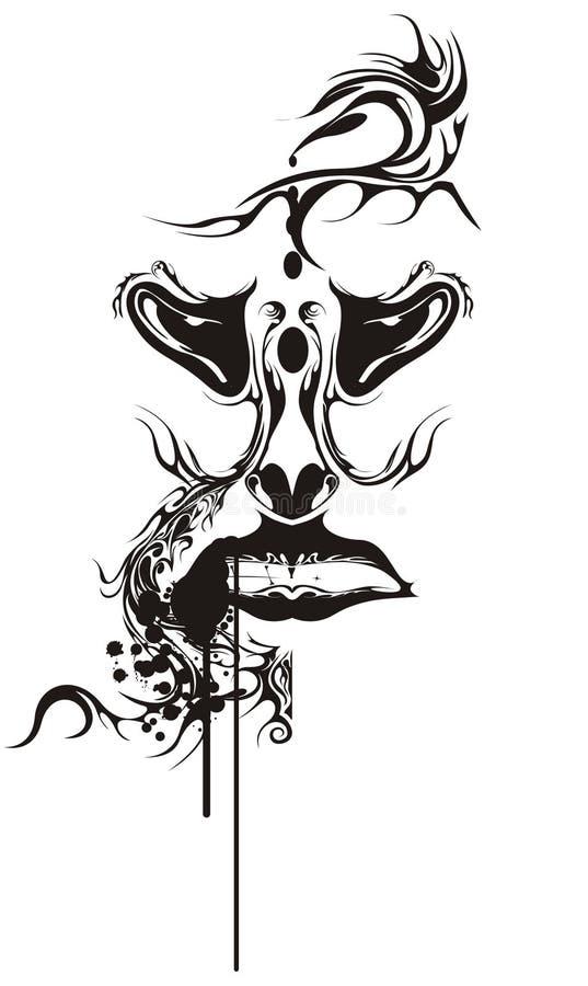 Tatuaje Humano Del Grunge Fotografía de archivo