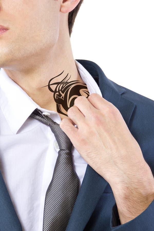 Tatuaje ocultado imagen de archivo