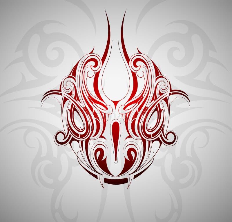 Tatuaje principal de la serpiente libre illustration