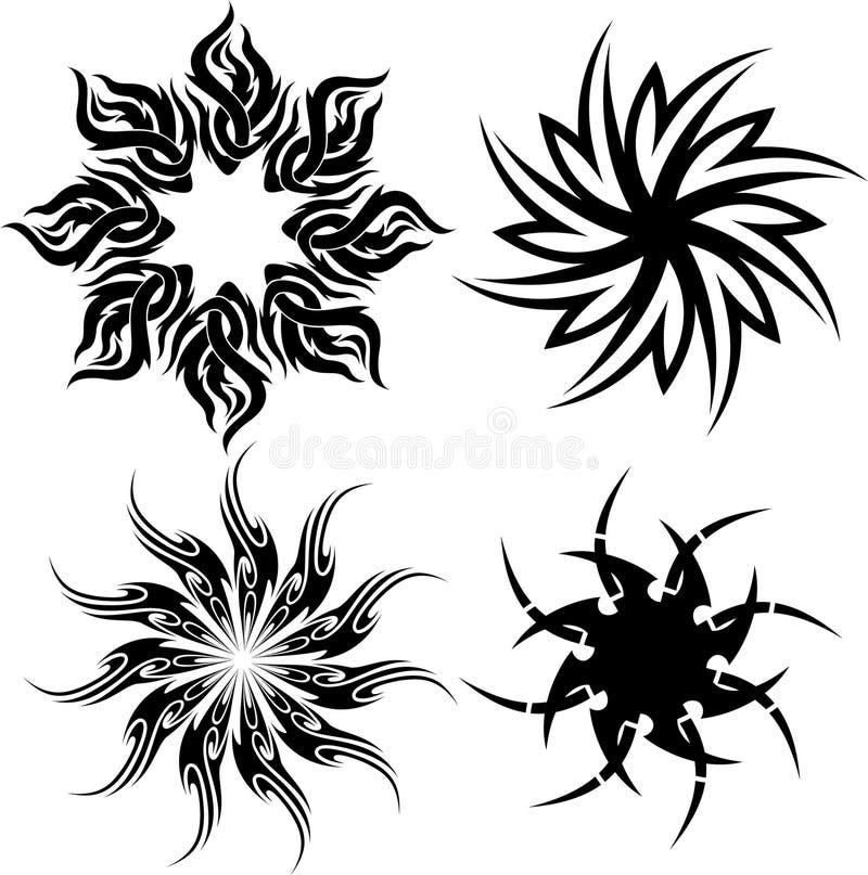 Tatuaje tribal del círculo stock de ilustración