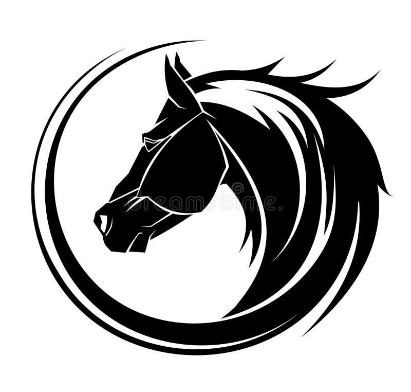 Tatuaje tribal del círculo del caballo. ilustración del vector