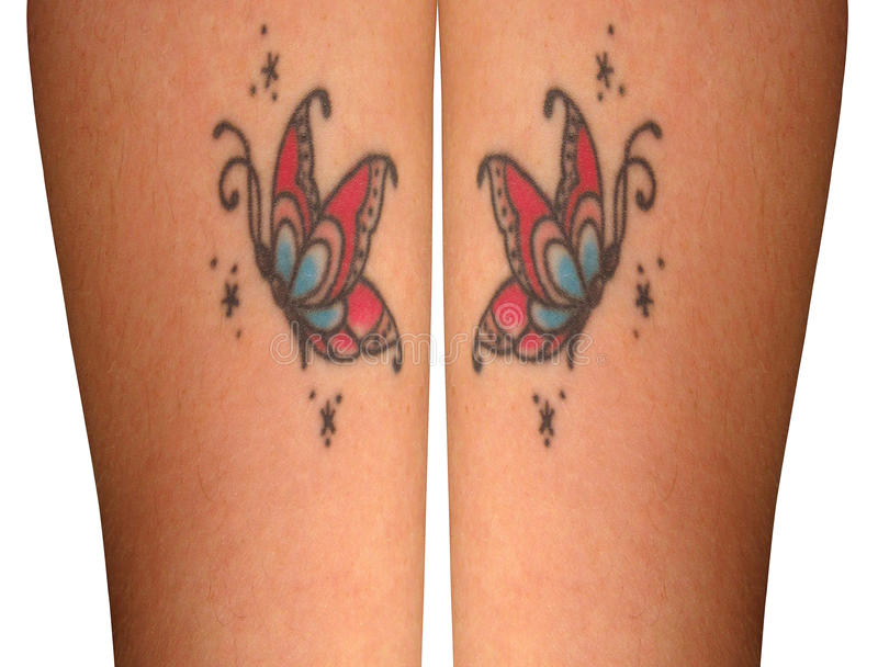 Tatuajes de Butterrfly fotos de archivo libres de regalías