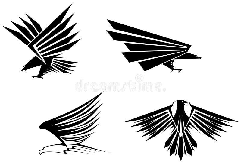 Tatuajes del águila ilustración del vector