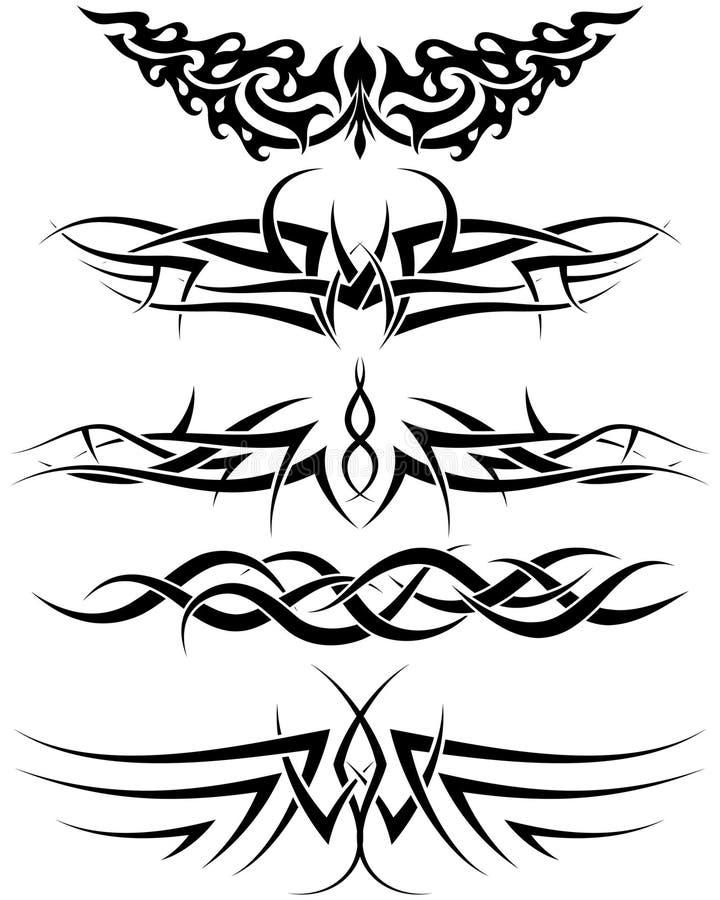 Tatuajes fijados stock de ilustración