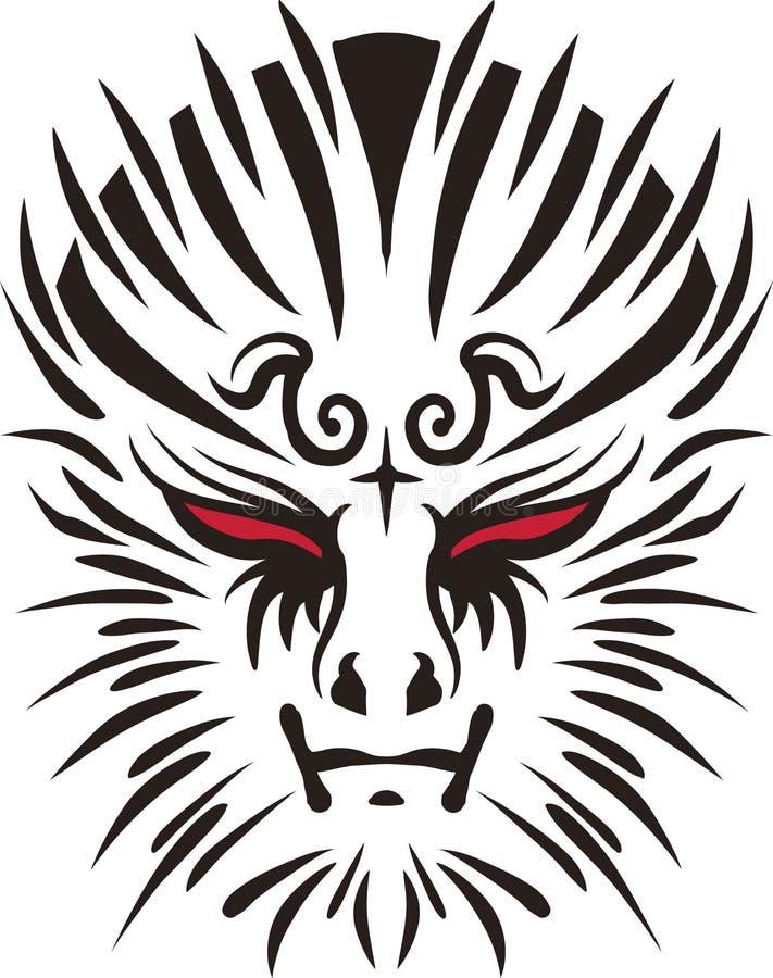 tatuera för framsida royaltyfria bilder